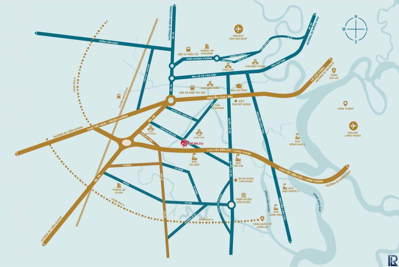 Vị trí chiến lược The Sol City Sài Gòn