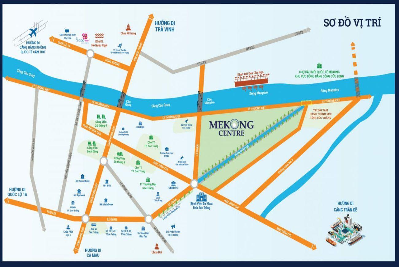 Vị trí dự án Mekong Centre Sóc Trăng
