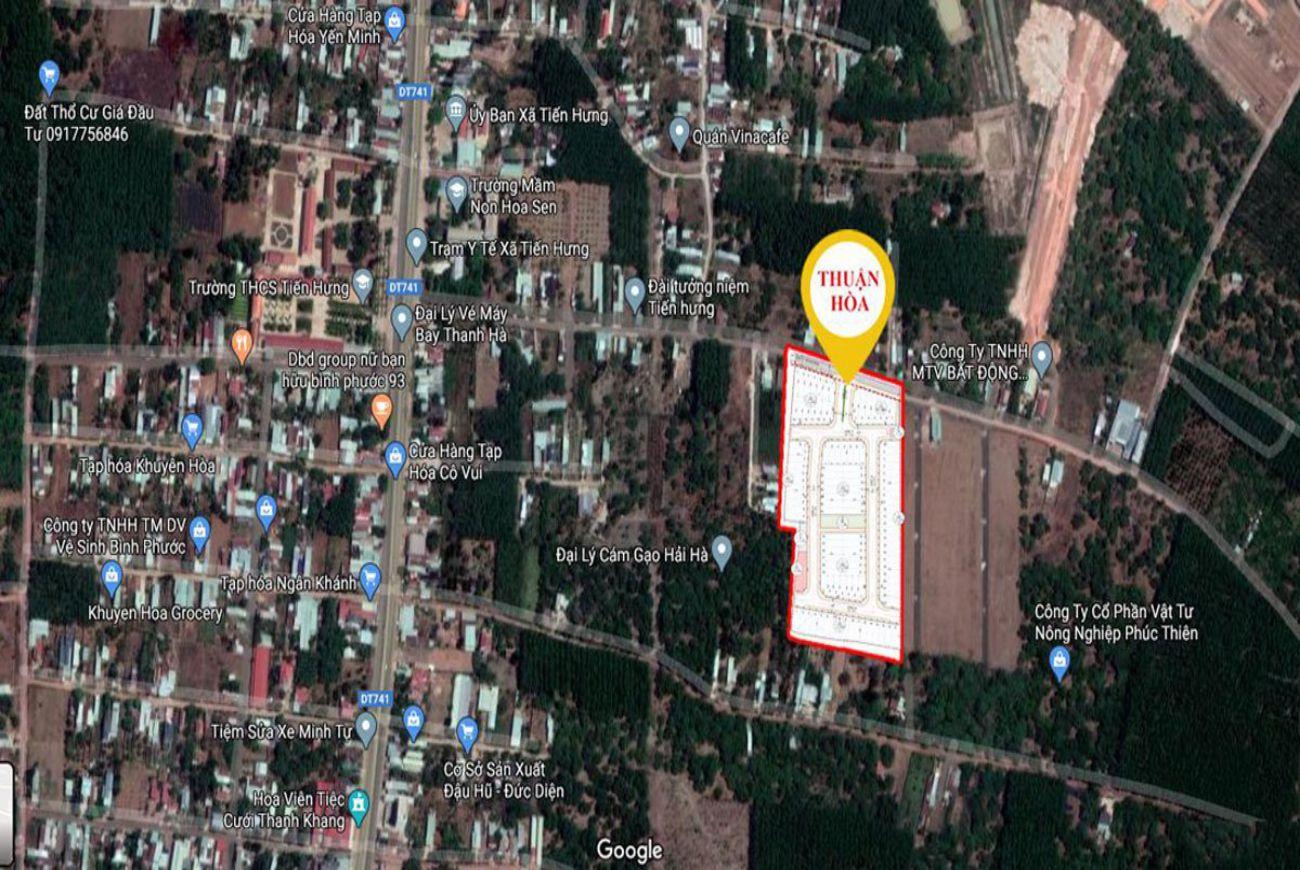 Vị trí Thuận Hoà Lucky Home Bình Phước