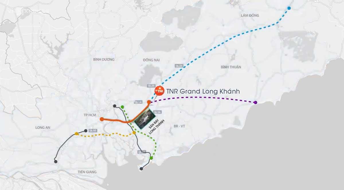 Vị trí dự án TNR Grand Long Khánh