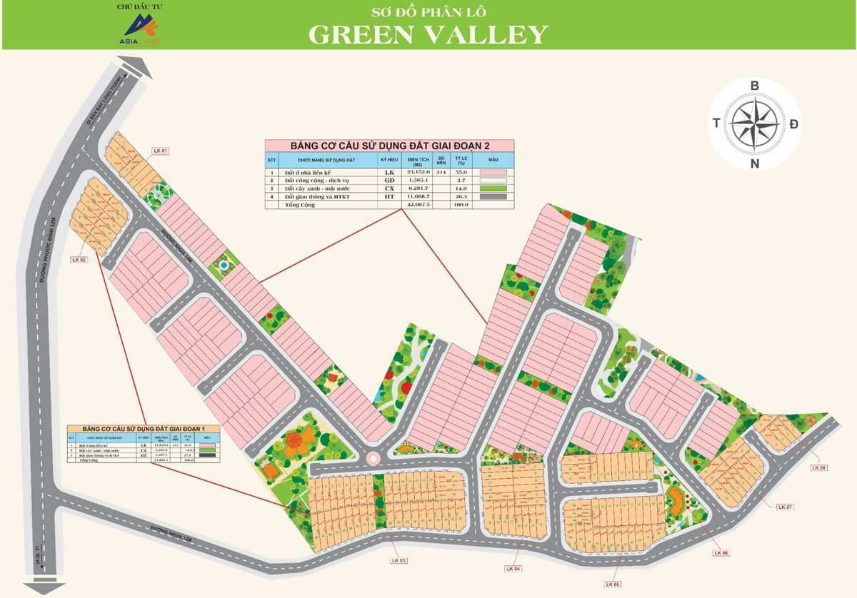 Mặt bằng Green Valley Phước Bình Đồng Nai