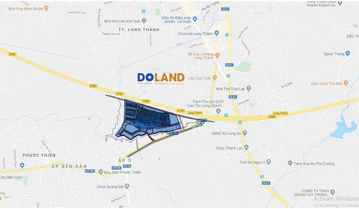 Vị trí dự án Long Thành Riverside Đồng Nai