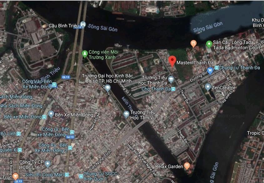 Vị trí dự án Masteri Thanh Đa Peninsula